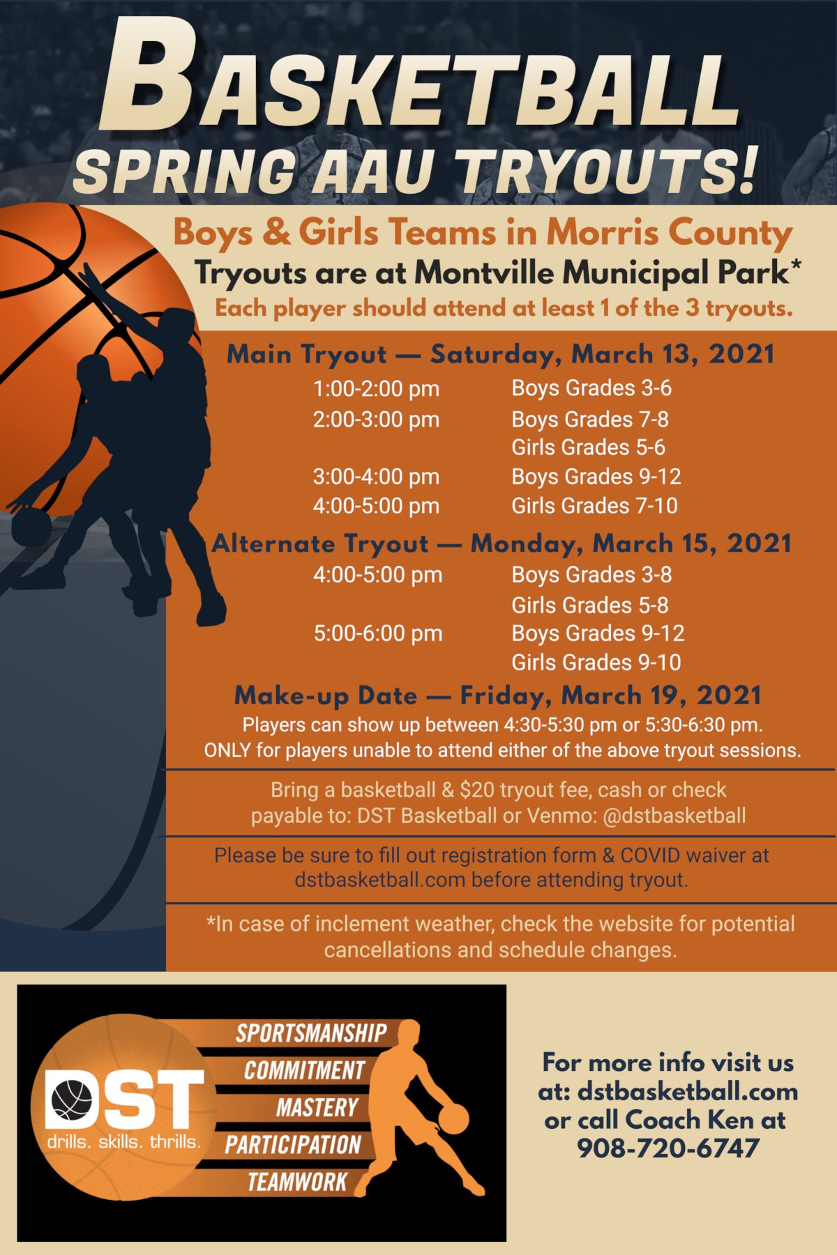 DST Basketball - Morris County AAU Tryouts