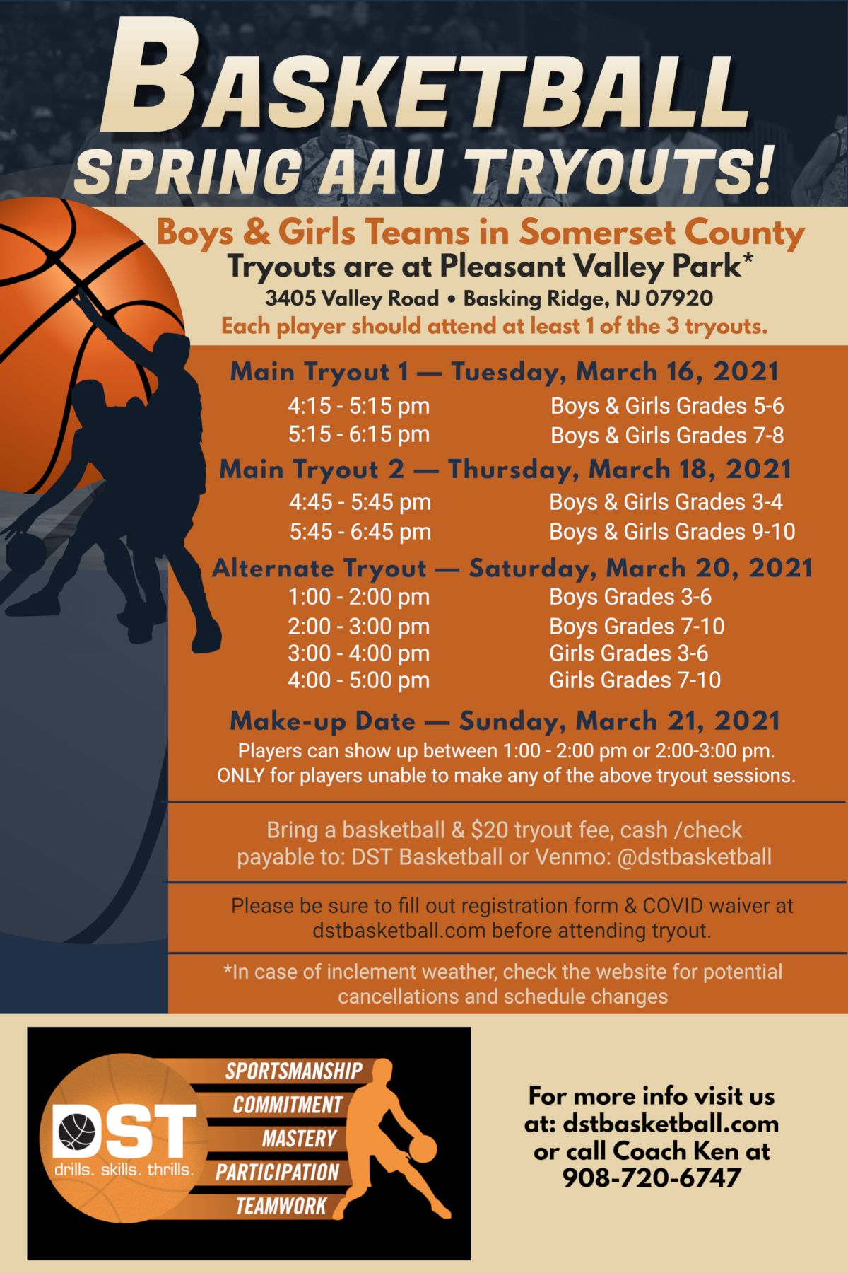 DST Basketball - Somerset County AAU Tryouts
