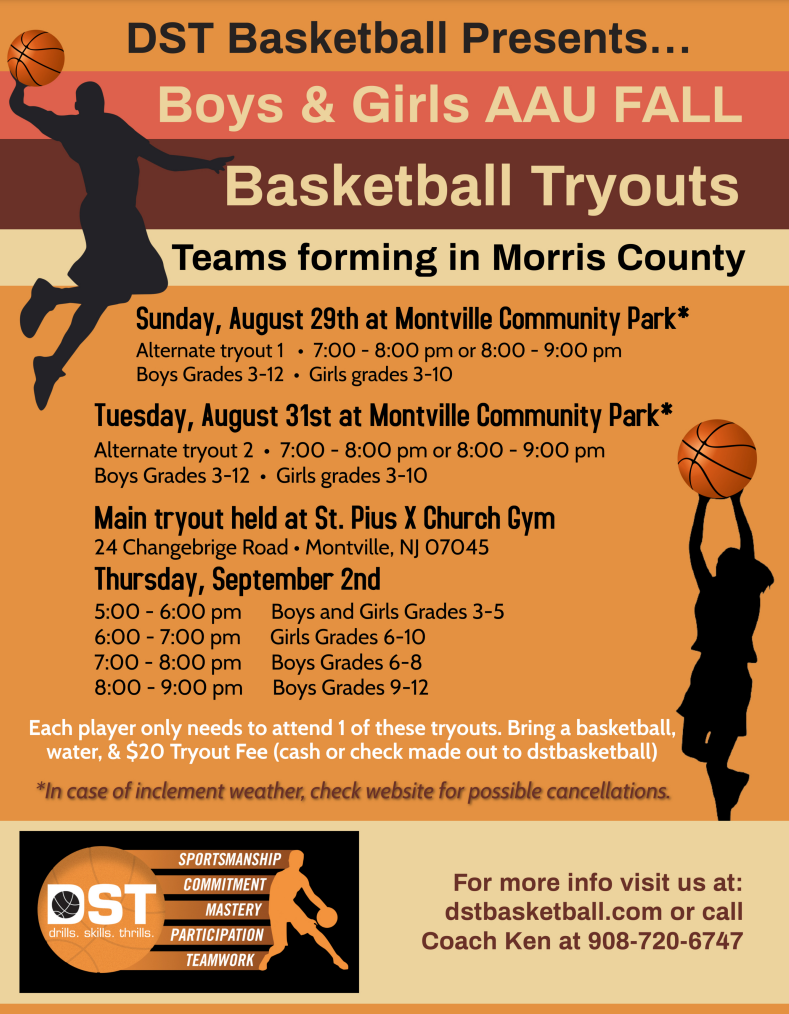 image for Fall AAU Morris County Registration flyer